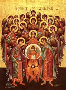 Synaxis of the angels Orthodox icon