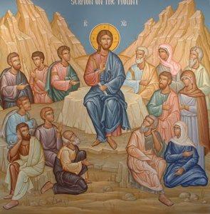 Sermon on the Mount Jesus teaching icon