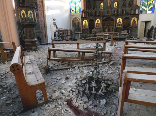 Orthodox Church in Syria destroyed by Islamic fighters