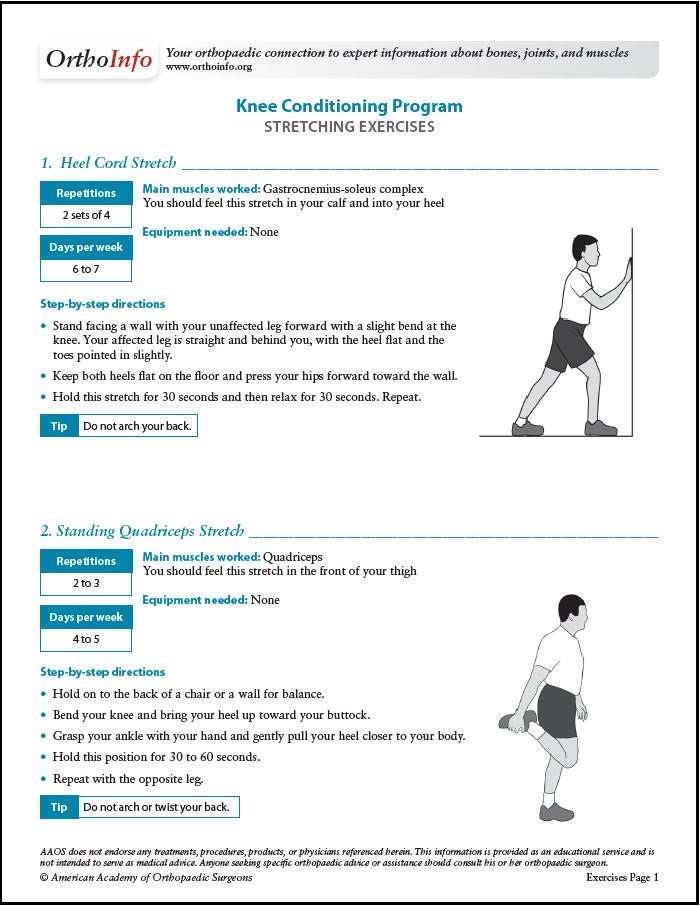 knee conditioning program orthoinfo