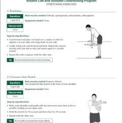 Chair Exercise For Seniors Handout Stackable Rolling Chairs Rotator Cuff And Shoulder Rehabilitation Exercises Orthoinfo Aaos Click To View Download This