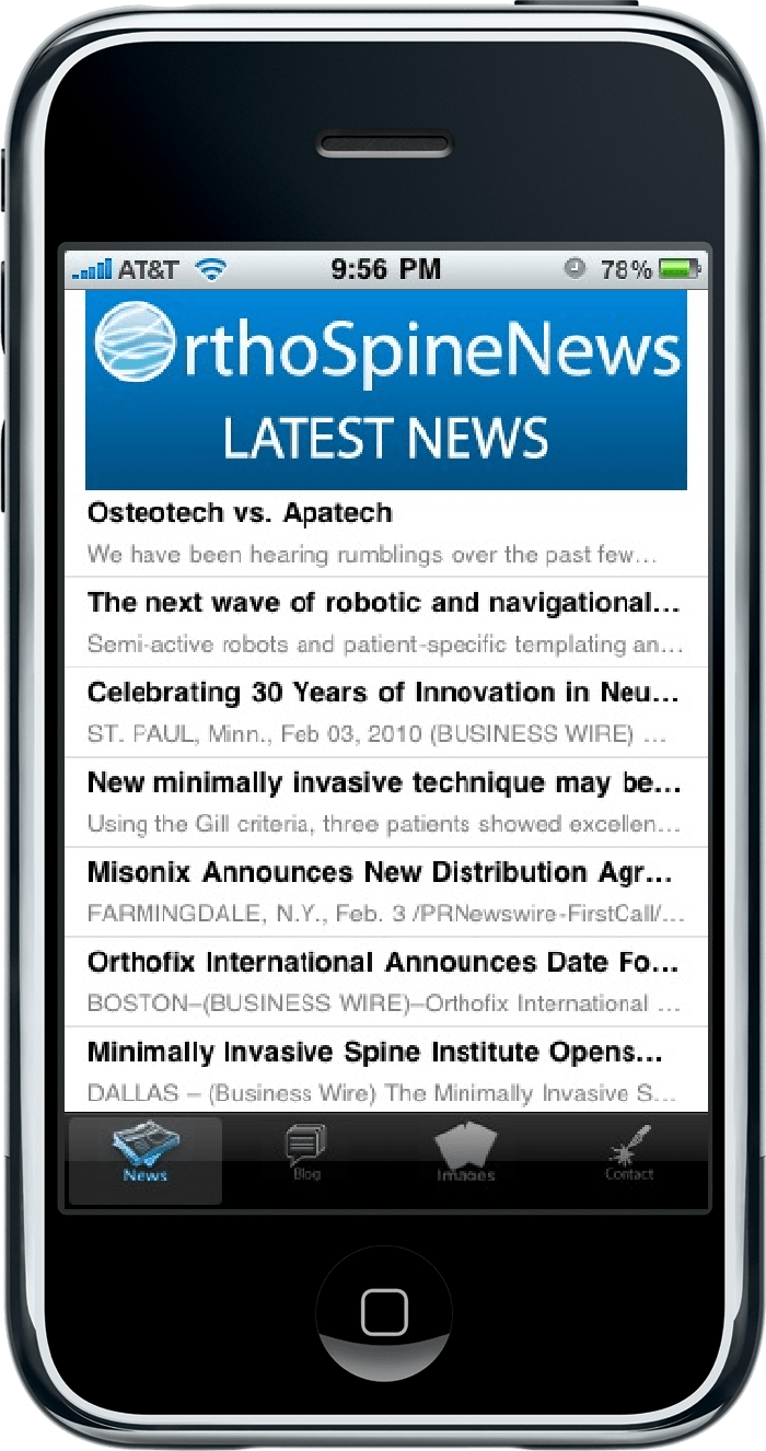 OrthoSpineNews com Launches App for iPhone and Android |