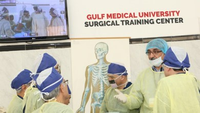 Photo of Stryker at GMU to train Middle East surgeons on hip replacements