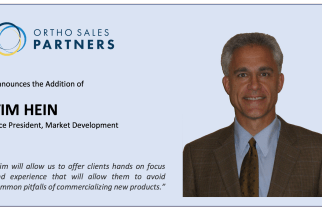Ortho Sales Partners Announces the Hiring of Tim Hein as Vice President, Market Development