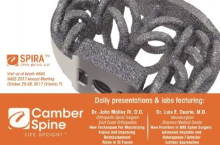 Camber Spine Announces Surgeon Presenters For NASS 2017