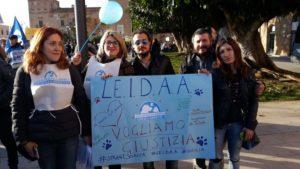 Gli attivisti della LEIDAA manifestano per i fatti di Sciacca – Fonte: LEIDAA