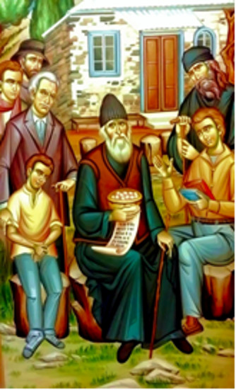 Aziz Paisios ve gençler(3)