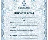 NOU : Certificate de botez sunt disponibile pentru utilizare în cadrul comunităţilor eparhiei Corsunului