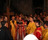 (Fotos) Franţa: Învierea Domnului la Biserica Sf. Serafim de Sarov din Montgeron