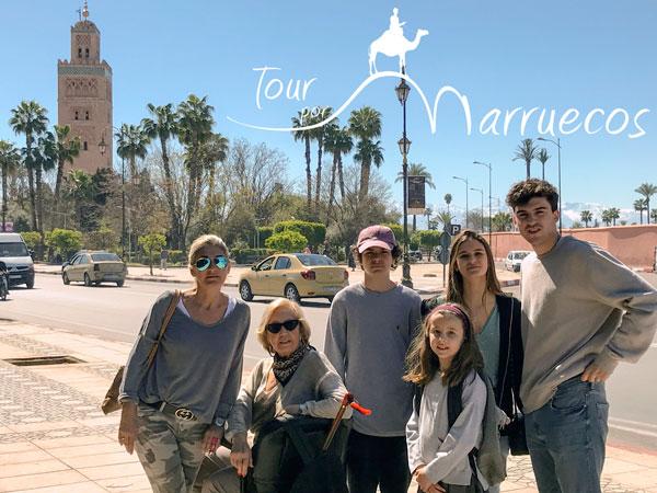 Con la familia en Marruecos