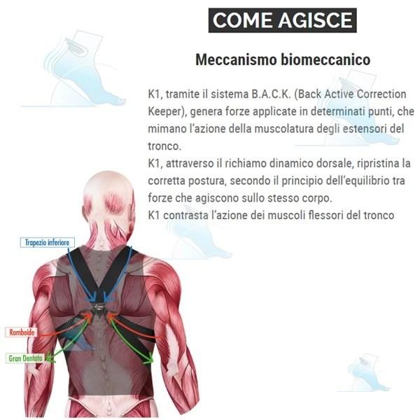 K1 Posture Keeper Versione Uomo Dual Sanitaly  Ortopedia