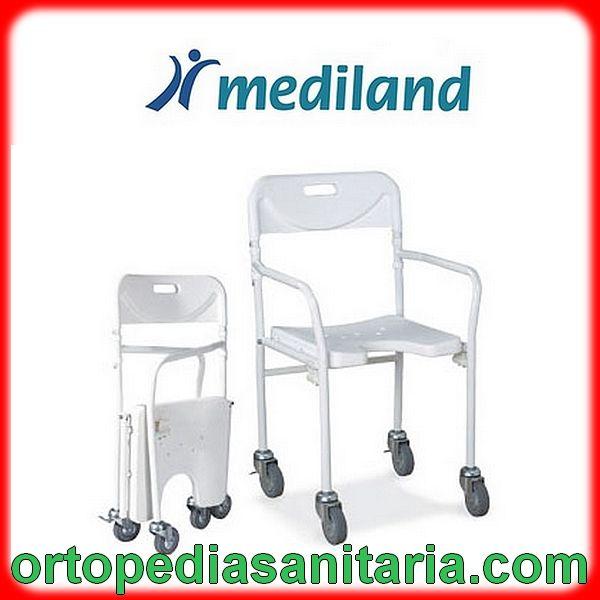 Sedia per doccia con ruote pieghevole e pratica Mediland