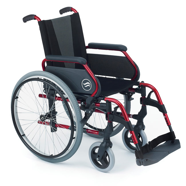 Breezy 300  Silla de ruedas de aluminio plegable