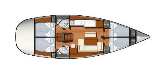 Tomazin - Sun Odyssey 44i - layout