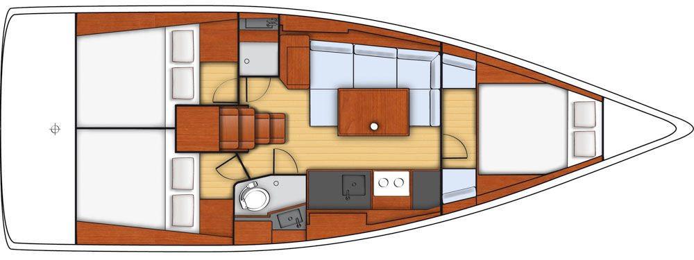 Oceanis 38 - layout