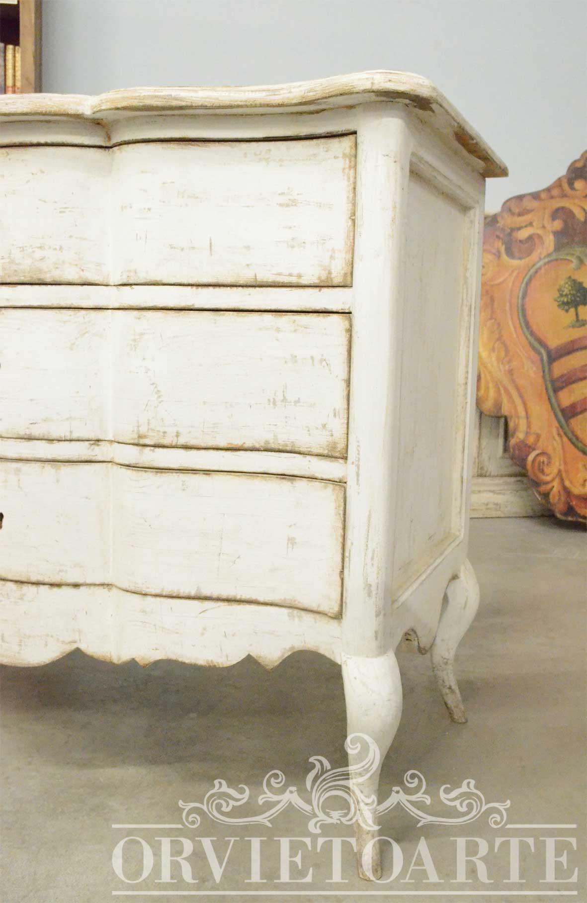 Orvieto Arte  Com bianco decap stile Shabby Chic