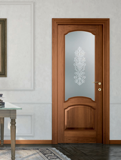 Porta da interno in Noce Nazionale Classica mod ST 613v