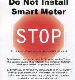 smartmeterstop nosmartmetersign terryfoxhighway [ 778 x 1020 Pixel ]