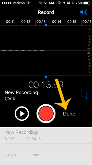 can i record audio on the iphone - step 4