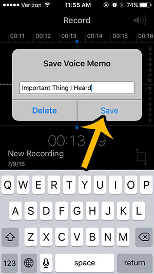 recording sound on an iphone 5 - step 5