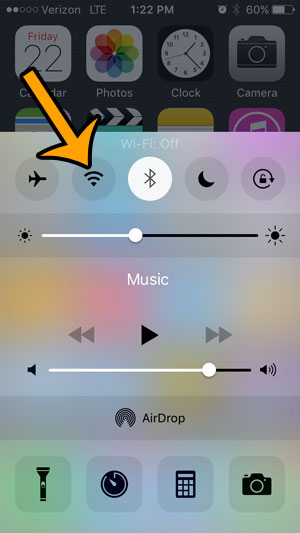 can you turn off wi-fi on an iphone 5