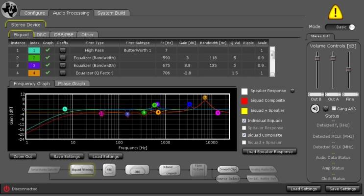 MiniDSP config tool