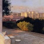 1996年「丘からの眺望」30号変 パネル、白亜地、油彩