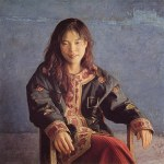 1998年「碧」S25号 パネル、白亜地、油彩