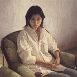 1999年「白いシャツ」S15号 パネル、白亜地、油彩