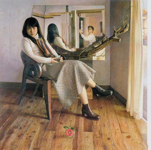 2002年「肖像」S80号 キャンバス、エマルジョン地、油彩