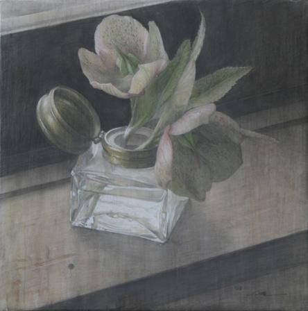 2008年「窓辺」白亜地、鉛筆、水彩
