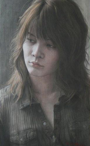 2009年「むこう」変形6号 パネル、白亜地、鉛筆、水彩