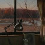 2010年「窓から(11月)」F30号 パネル、白亜地、油彩
