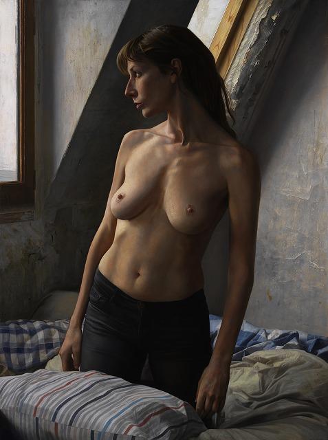 2012年「Sveva」F60号、キャンバス、エマルジョン地、油彩