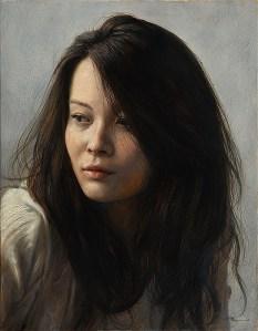"""2014 """"想(Thoughts)"""" - oil sketch F6(410×318cm), oil on panel"""