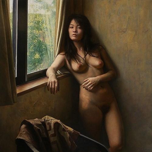 2014年「静寂の声」S50号 パネル、白亜地、油彩