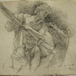 2010「ルーブル美術館にて」pencil on paper