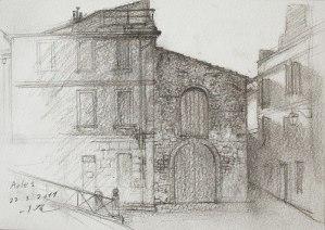 "2011 ""Arles"" pencil on paper"