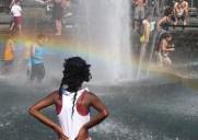 ワシントンスクエアー公園の噴水