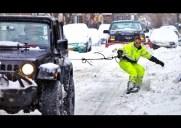 ニューヨークの街をスノーボードで滑りまくる動画が話題に