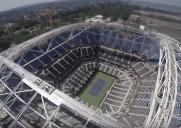 重さ6000トン!全米オープンテニス決勝会場に設置される開閉式屋根