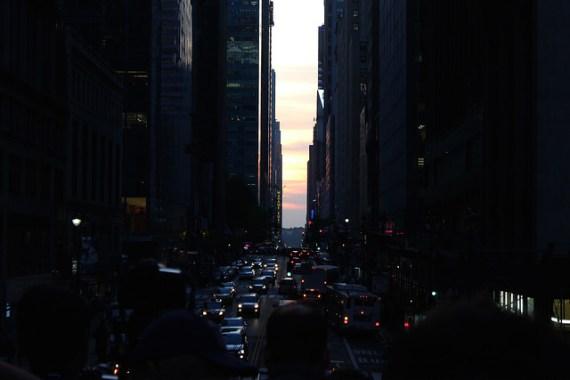 Cloudy Manhattanhenge