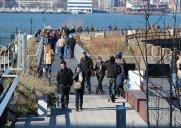 ハドソン川が目の前に広がる遊歩道「ハイライン最終セクション」