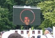 マイケル・ジャクソンさんの誕生日に行われたブルックリンでの追悼イベント