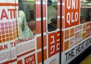 ニューヨークにユニクロ電車が走る