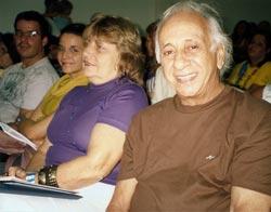 """No auditório lotado, o ator """"global"""" Flávio Migliasso, cidadão """"riobonitense"""", prestigiou a Conferência de Cultura da Baixada Litorânea, irradiando a sua simpatia."""