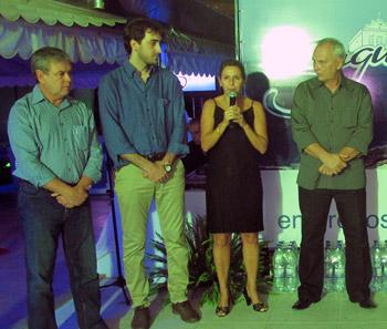 Vice-prefeito Dr. Amílcar Ferreira, empresário Federico Bragaglia, deputada federal Solange Almeida e o empresário Pedro Rosa.