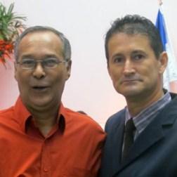 O vice Gilvan com o homenageado Luiz Fernando Coelho