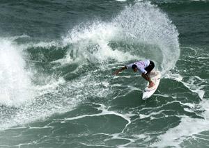 Raoni foi exuberante em sua primeira final em Saquarema.