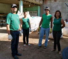 Os catadores pretendem melhorar as condições da reciclagem feita no município, com apoio da Prefeitura Municipal